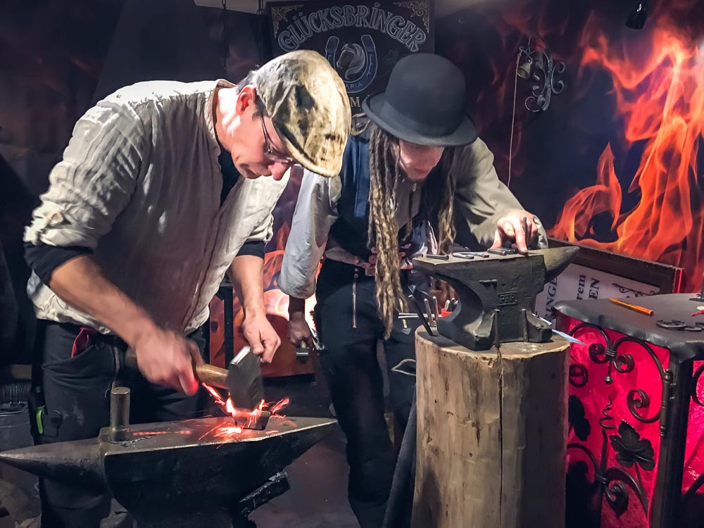 Colognes Christmas Markets Blacksmiths at work