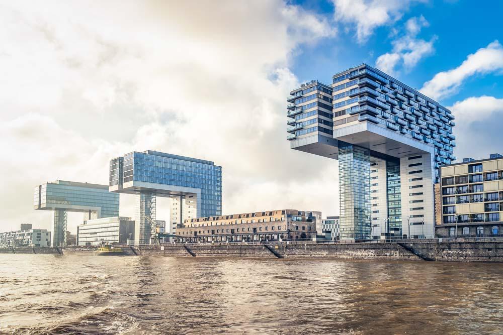 Crane towers Architectual Masterpiece on the Rhein
