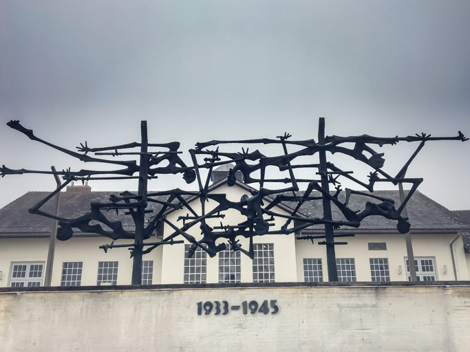 Memorial at Dachau Concentration Camp 1933 to 1945