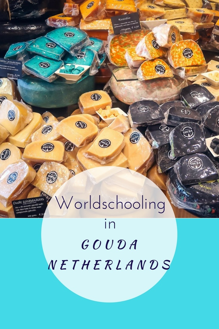 Want to know how to incorporate worldschooling into your travel itinerary? Visit a town famous for food and the kids are automatically engaged. Visit Gouda for a lesson in Economics and sample all the cheese.