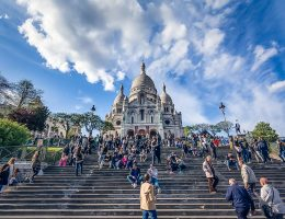 Steps up to the Sacre Coeur