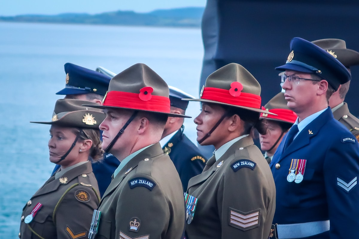 Soldiers attending the Dawn Service at Gallipoli 2018