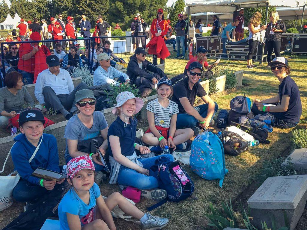 ANZAC Day at Gallipoli - Australian service at Lone Pine