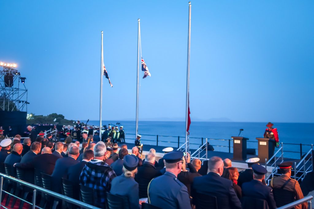 ANZAC day at the landing beach