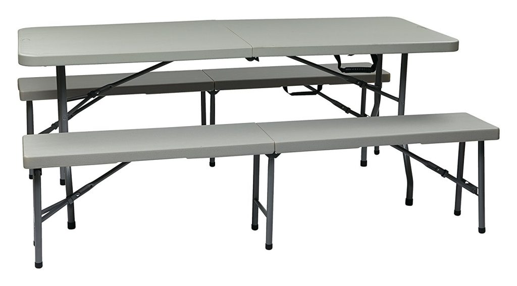Outdoor Folding Table and Bench Set