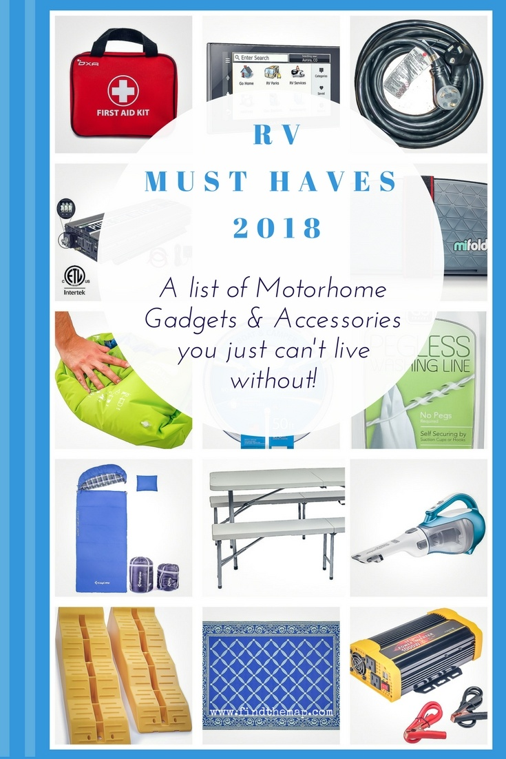 Here is a list of 2018 RV Must Haves. Those essential items that make life on the road run smoothly. Some are items you just wouldn't travel without and some items fall into the category of 'Home Comforts'.  Find what they are and why they are so important.