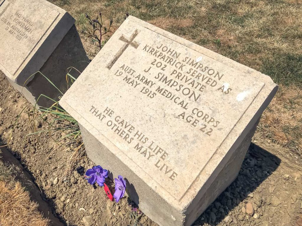 ANZAC Day at Gallipoli - John Simpson Kirpatrick