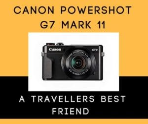 Canon Powershot G7 Mark 11 perfect travel camera