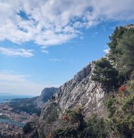 View from Starigrad Fortress in Omis Croatia
