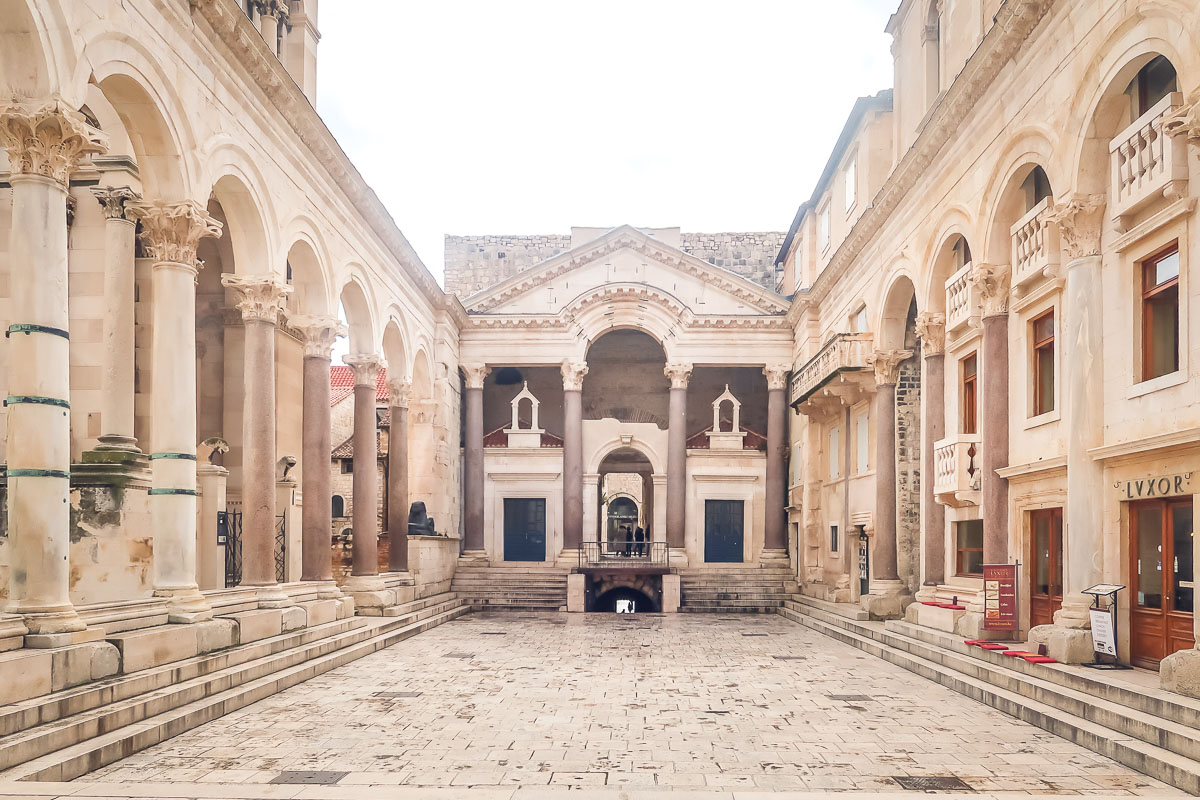 Diocletians Palace is a must see in Split