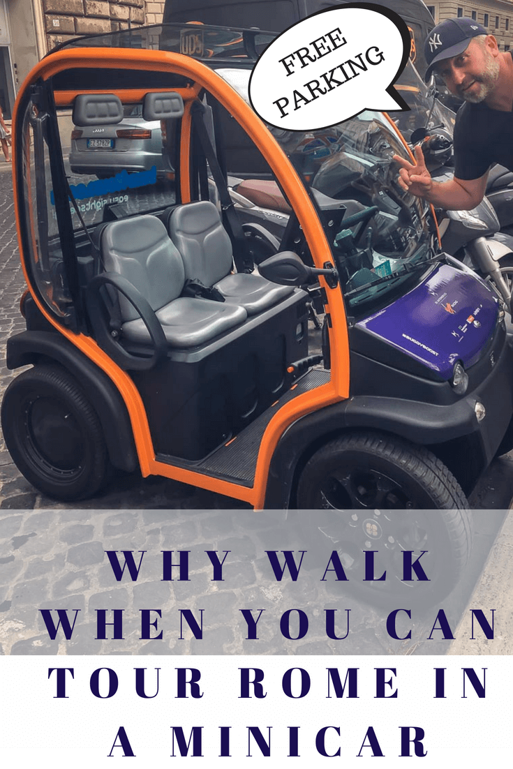 Why do a Rome Walking Tour when you can see all the Major Sites in Rome in a MicroCar. Have a traveller that is too little too old to walk all day? Make your Trip to the Eternal City of Rome Exciting! Then a Buzz4Tours Electric MiniCar is for you. #MicroCar #TouringRome