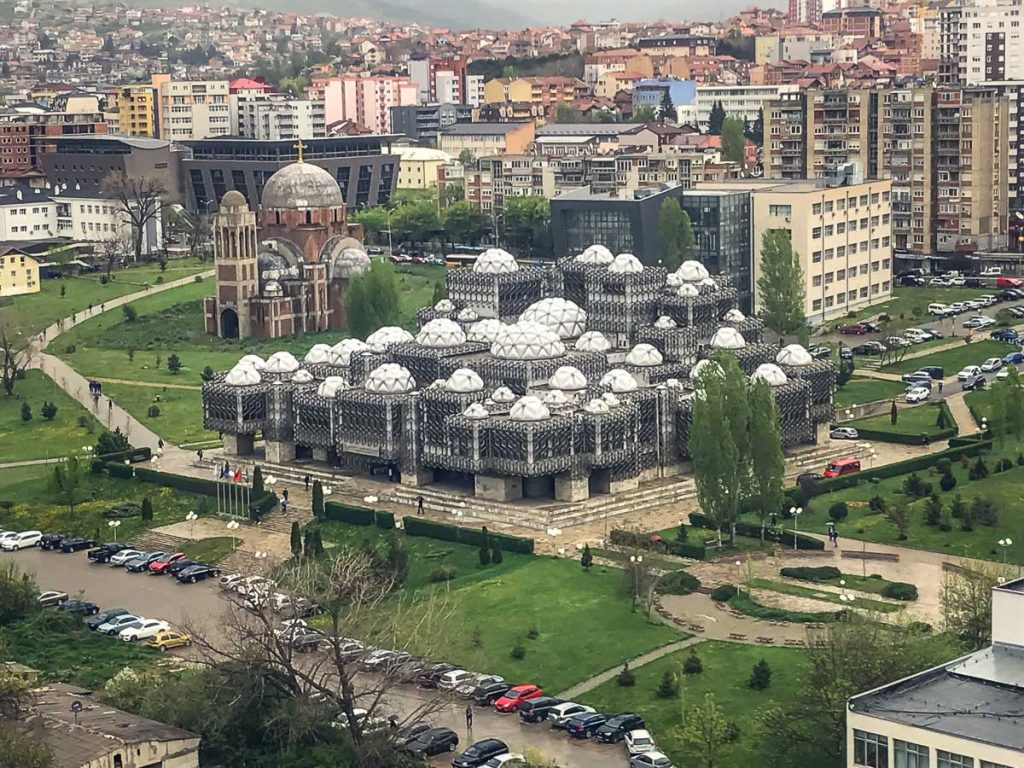 The Kosovo National Library with its crazy architecture