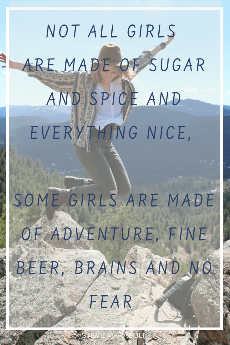 Adventure Beer Brains and Fear Quote