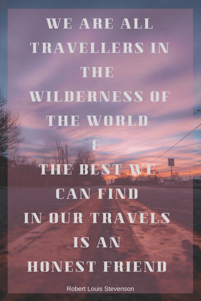 Travel and honest friend Quote
