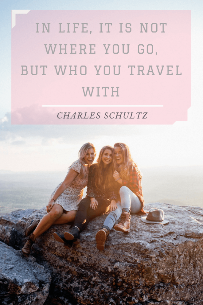 Who you travel with Quote