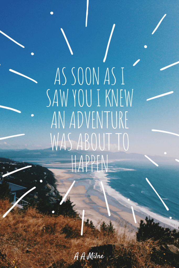 You and Adventure Quote