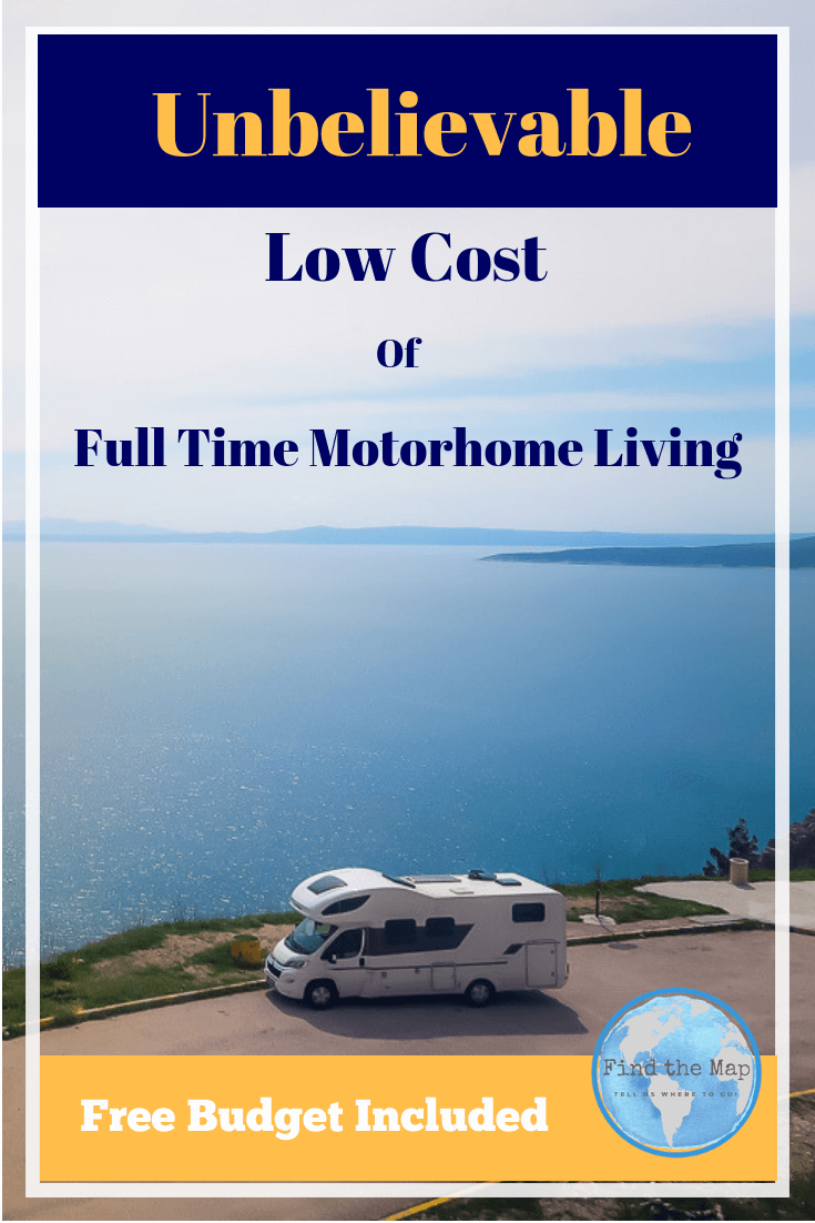 So you want to live in a Motorhome full time but don't know if you can afford it.  Find the monthly and yearly cost estimates for full time motorhome living in Europe. #FulltimeRVLiving #VanLife #Motorhoming
