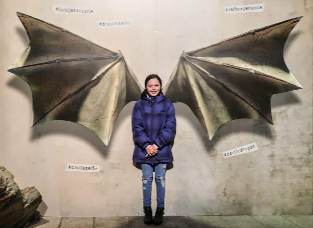 Dragons wings at Ljubljana Castle