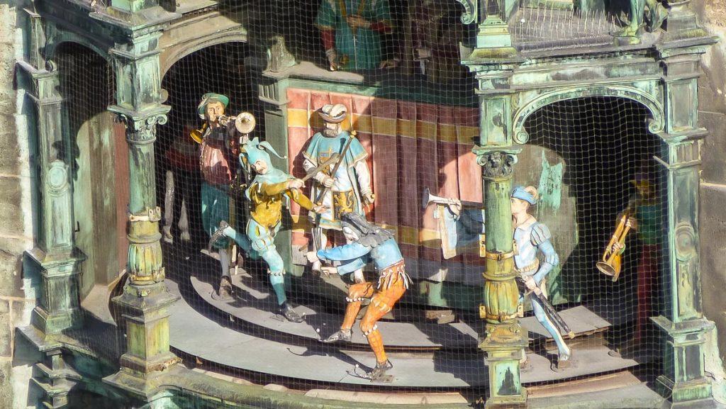 Glockenspiel in Munich Marienplatz