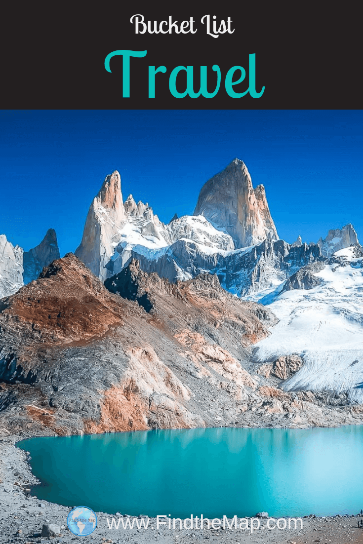 Creating a Bucket List for Travel keeps you accountable to your goals. It\'s a great way of visualise where you want to go and why. Here is my bucket list, what exciting destinations are on yourse? #FindtheMapandGo #BucketList #Travellist